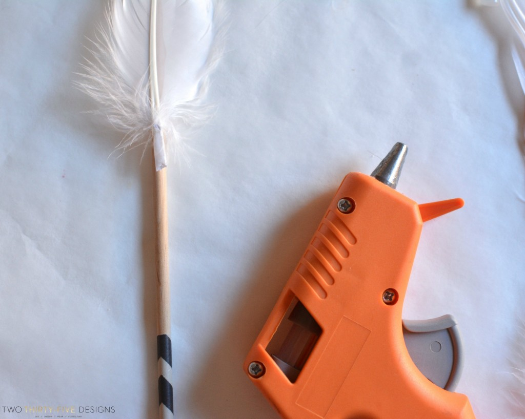 Feather Assembly for DIY Arrows by Two Thirty~Five Designs