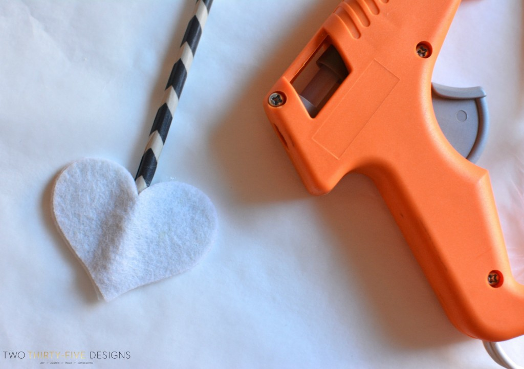 Felt Hearts for DIY Arrow by Two Thirty~Five Designs