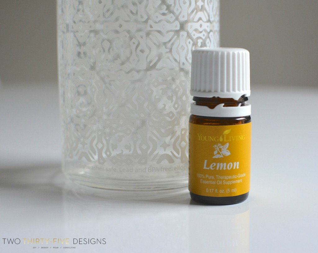 Lemon Essential Oil in Water by Two Thirty~Five Designs