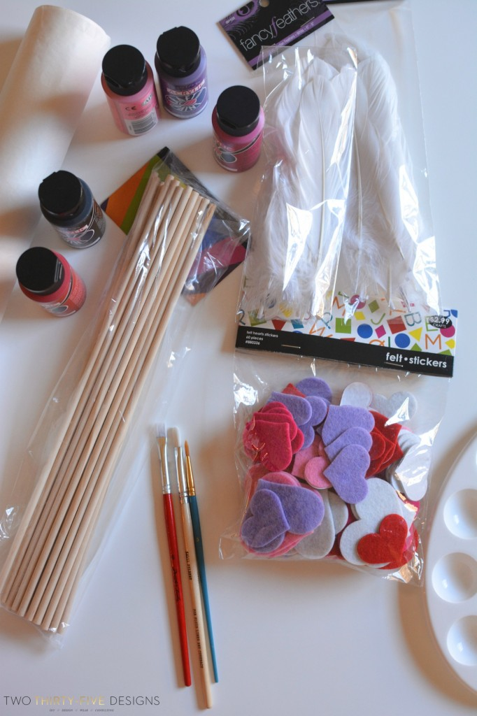 Supplies for DIY Arrows by Two Thirty~Five Designs