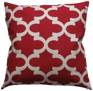 Red Quatrefoil Pillow