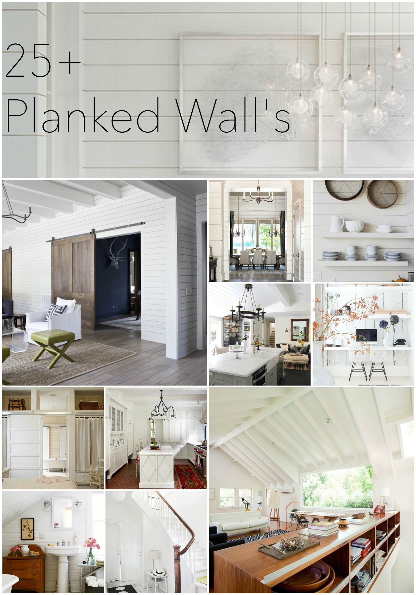 Plank walls in bathroom - 25 Planked Wall Inspiration Areas