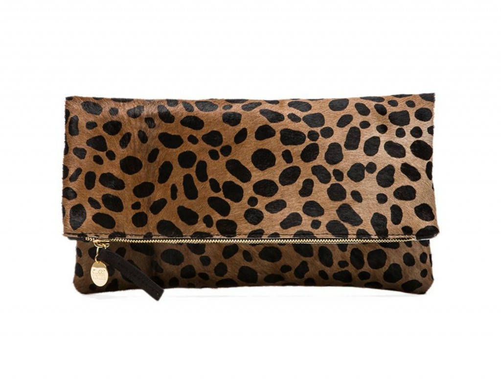 Clare V Leopard Fold Over Clutch