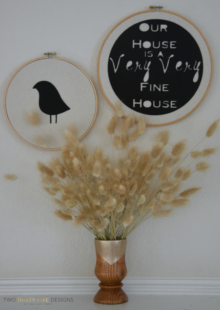 DIY Felt Hoop Art by Two Thirty~Five Designs