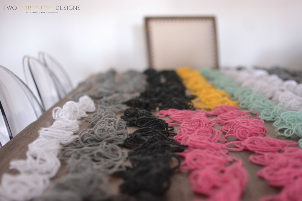 DIY Yarn Wall Art How-To by Two Thirty~Five Designs