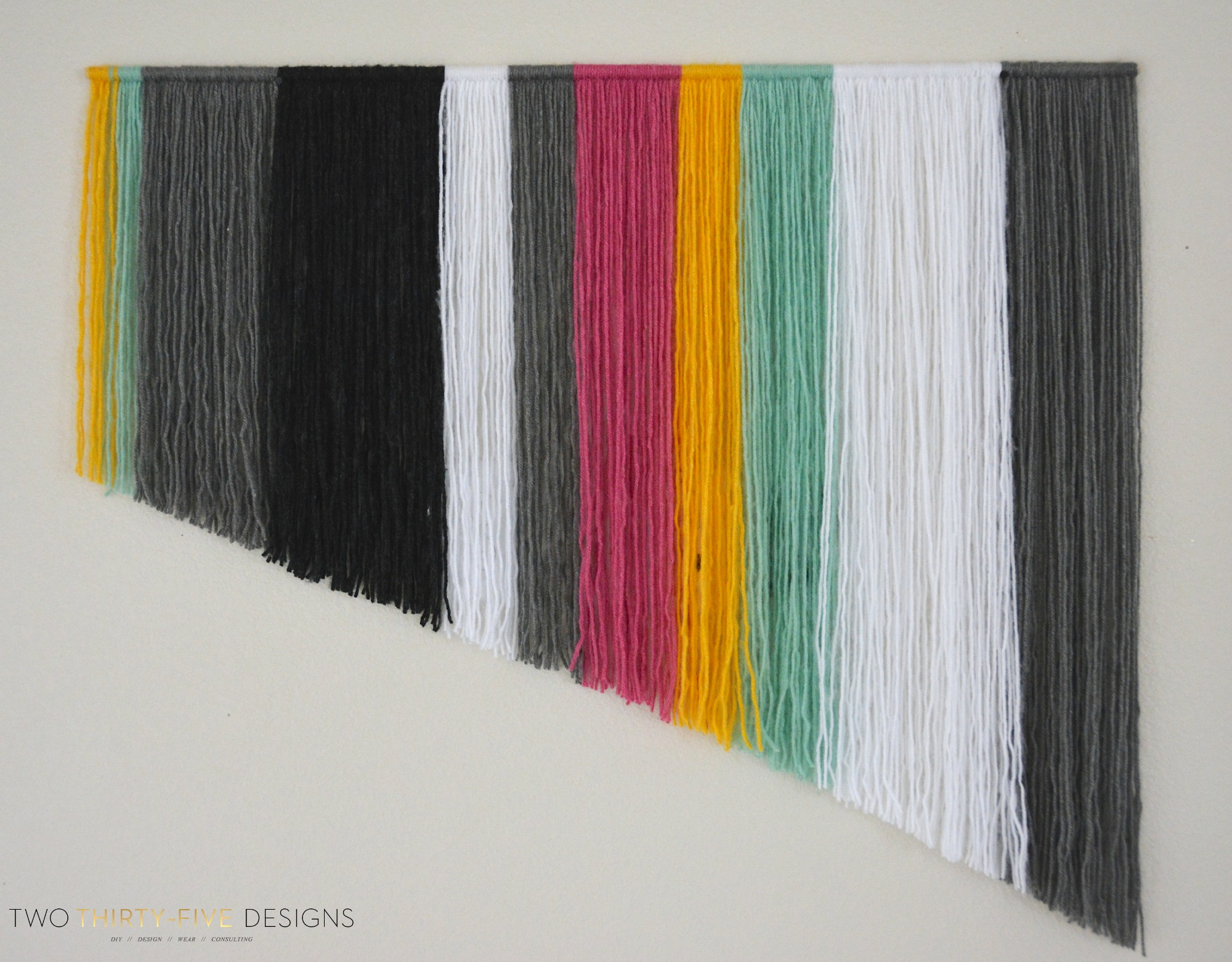 DIY Yarn Wall Art , Two Thirty,Five Designs