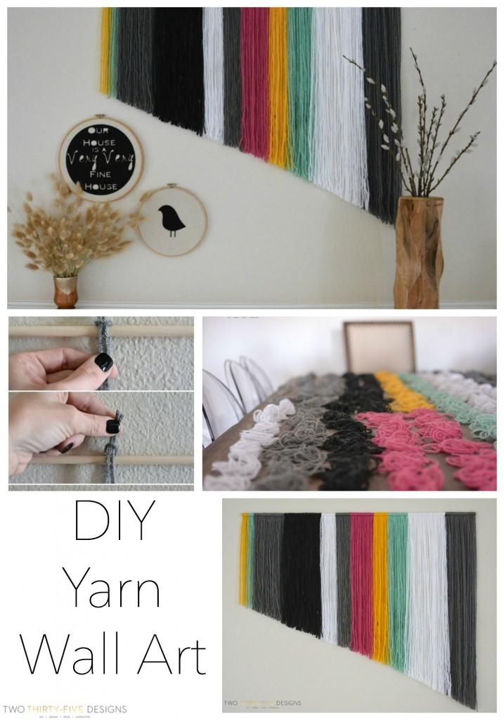 DIY Yarn Wall Art by Two Thirty~Five Designs