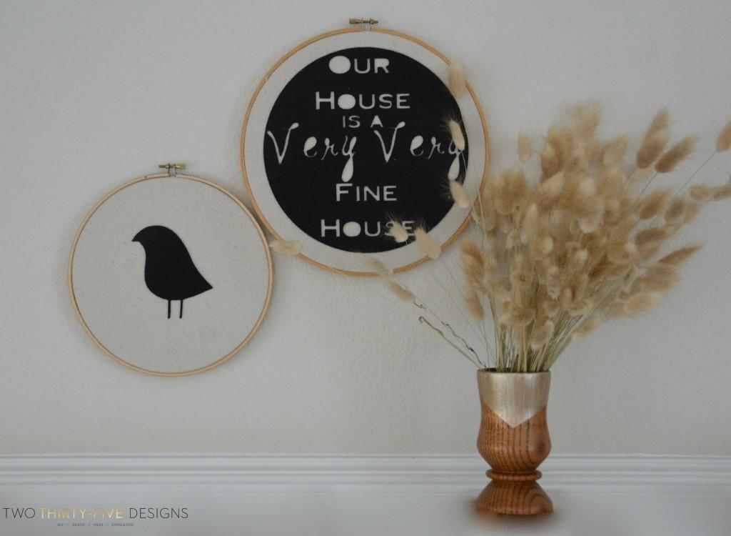 Felt Hoop Art by Two Thirty~Five Designs