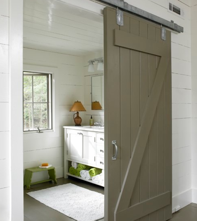 Sliding Door with Planks