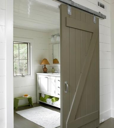 Sliding Door with Planks