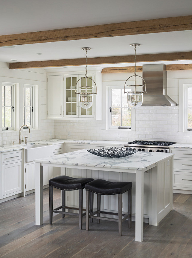 Small-Kitchen-Layout-Design-Planked-Walls
