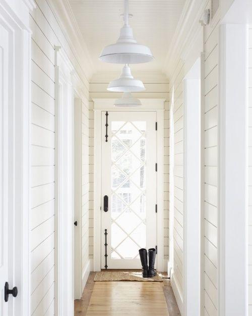 White Planked Hallway