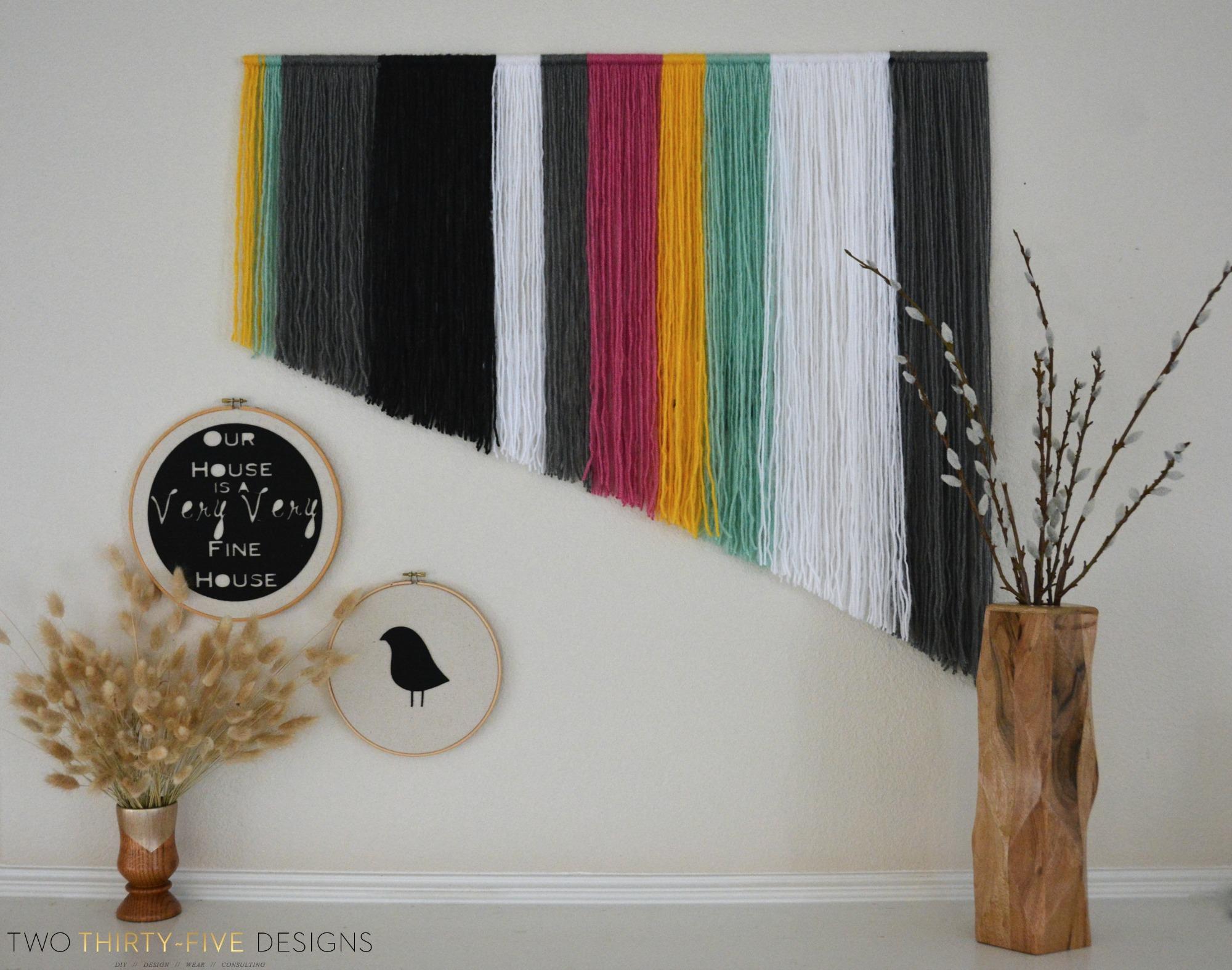 Yarn Wall Art diy yarn wall art - two thirty-five designs