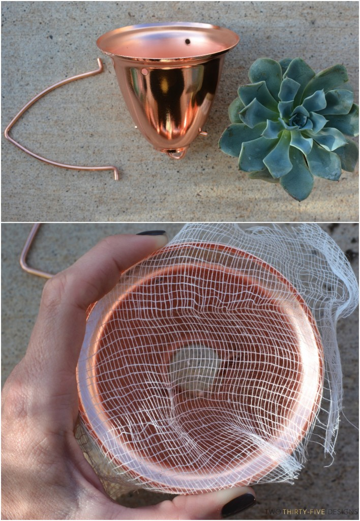 Copper Planter by Two Thirty~Five Designs
