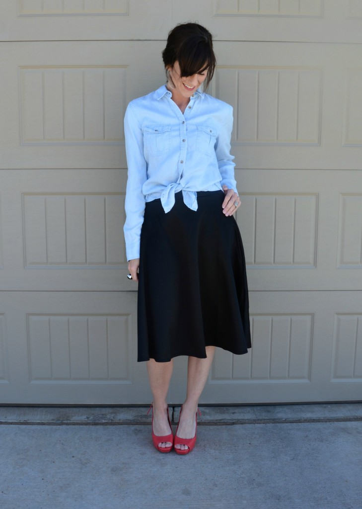 Casual Friday Link Up - Denim and Midi Skirts 1