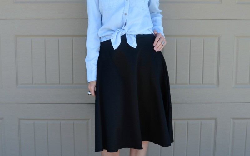 Casual Friday Link Up – Denim and Midiskirts