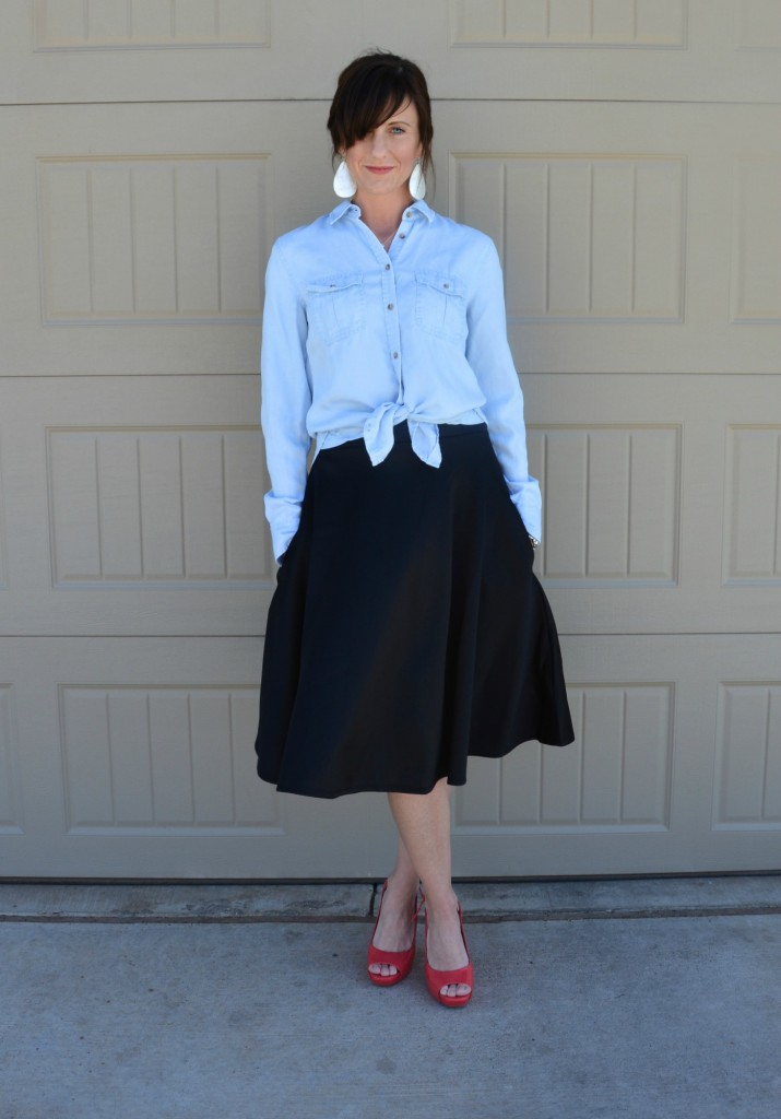 Casual Friday Link Up - Denim and Midi Skirts 2