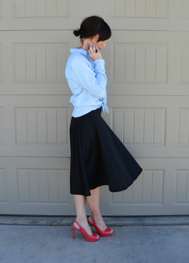 Casual Friday Link Up - Denim and Midi Skirts 3