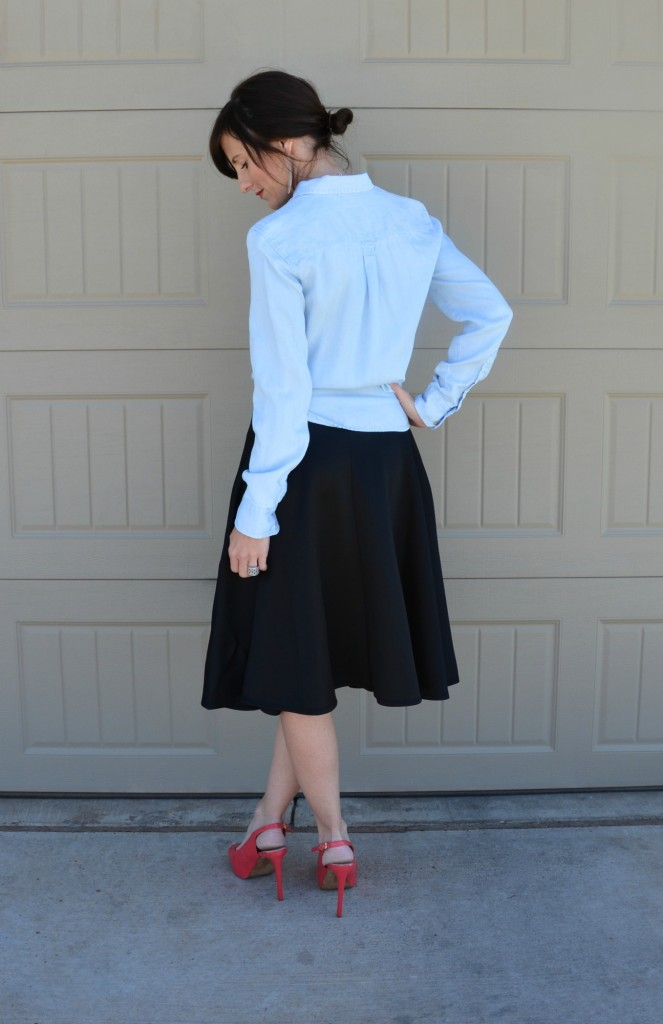 Casual Friday Link Up - Denim and Midi Skirts 4