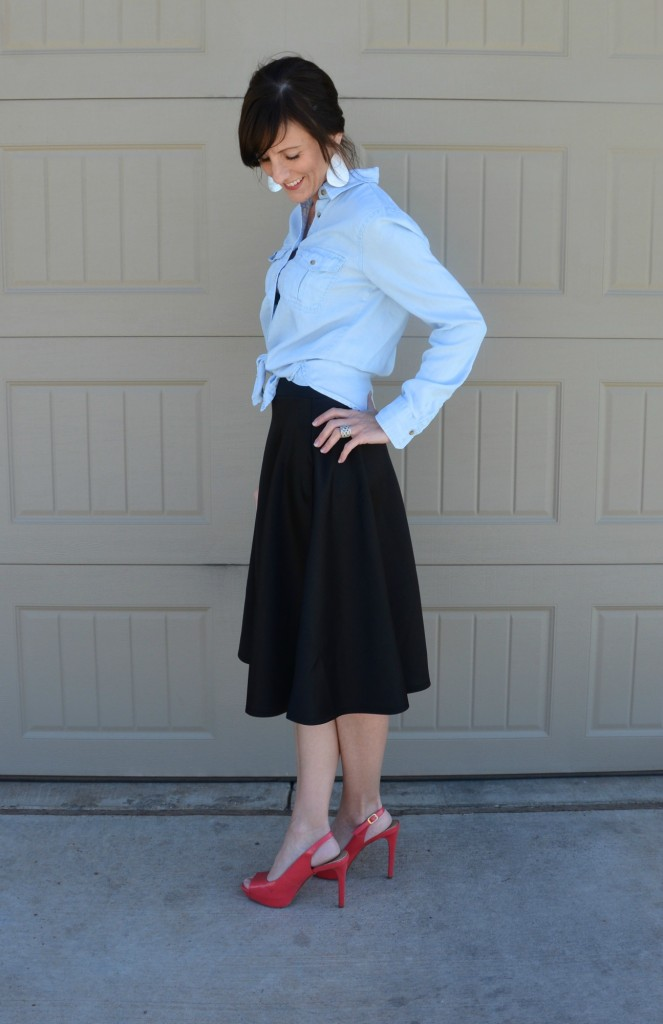 Casual Friday Link Up - Denim and Midi Skirts 5