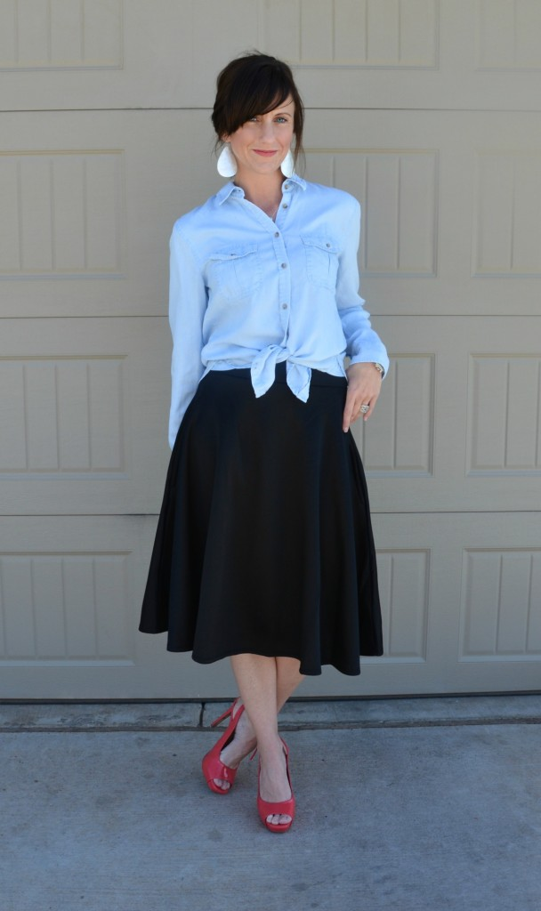 Casual Friday Link Up - Denim and Midi Skirts 7