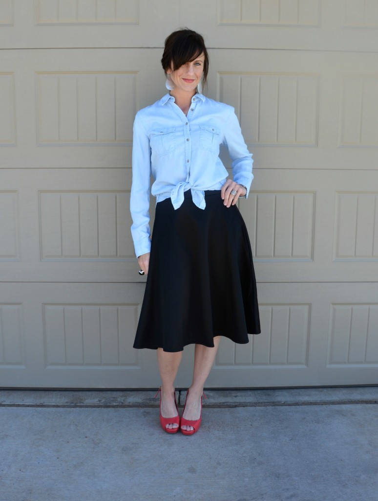 Casual Friday Link Up - Denim and Midi Skirts