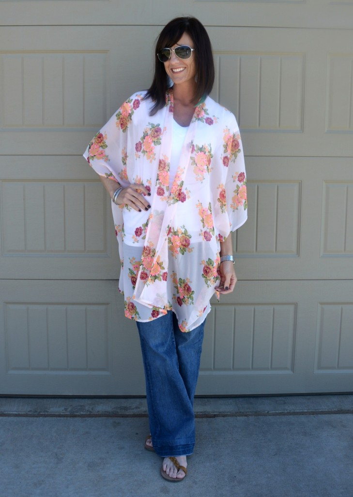 Casual Friday Link Up - Kimono's & Bell Jeans 1