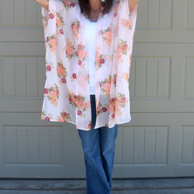 Casual Friday Link Up - Kimono's & Bell Jeans 2