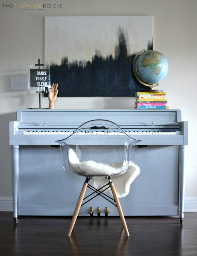 Gray Chalk Paint Piano by Two Thirty~Five Designs 1
