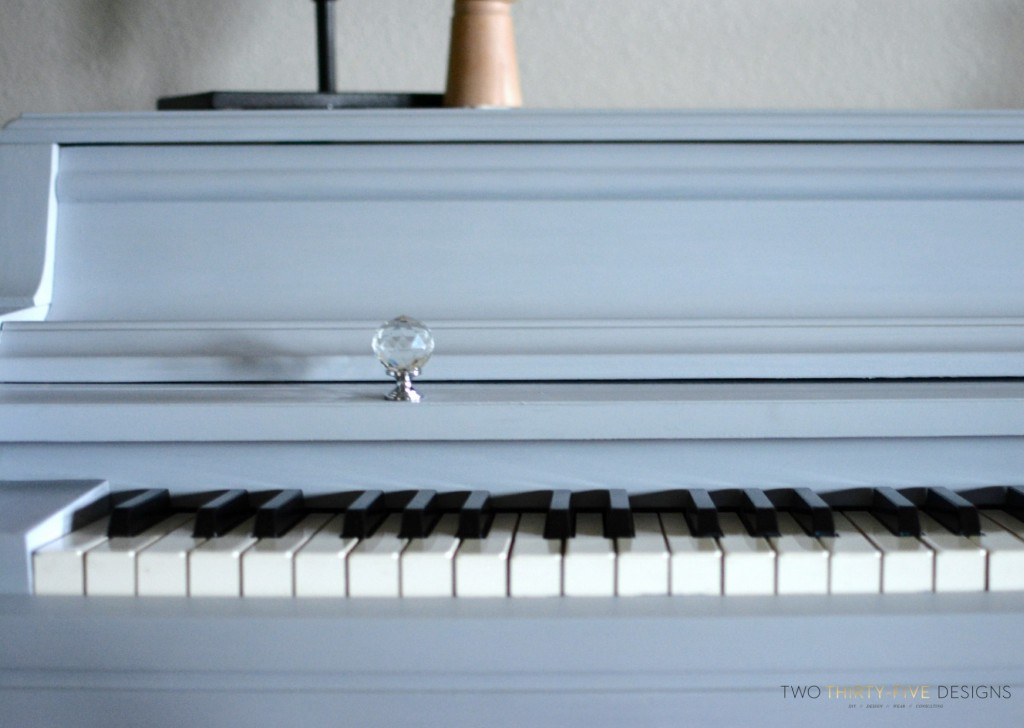 Gray Chalk Paint Piano by Two Thirty~Five Designs 2