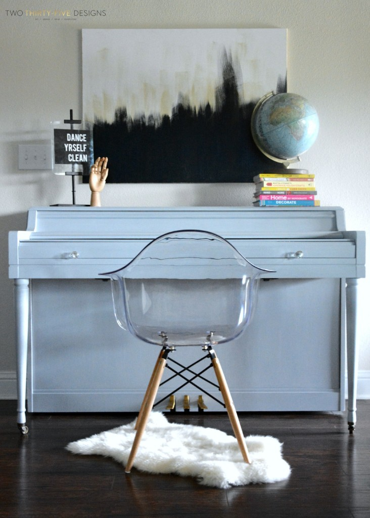 Gray Painted Piano by Two Thirty~Five Designs 1