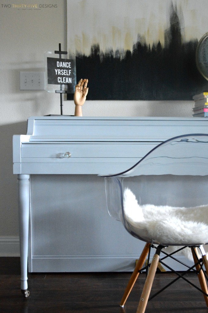 Gray Painted Piano by Two Thirty~Five Designs 2