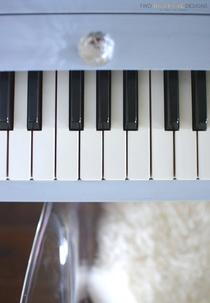 Gray Painted Piano by Two Thirty~Five Designs 3