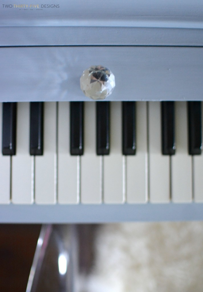 Gray Painted Piano by Two Thirty~Five Designs 4