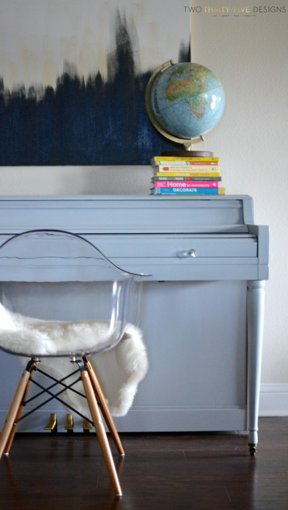 How to Paint a Piano Gray by Two Thirty~Five Designs 3