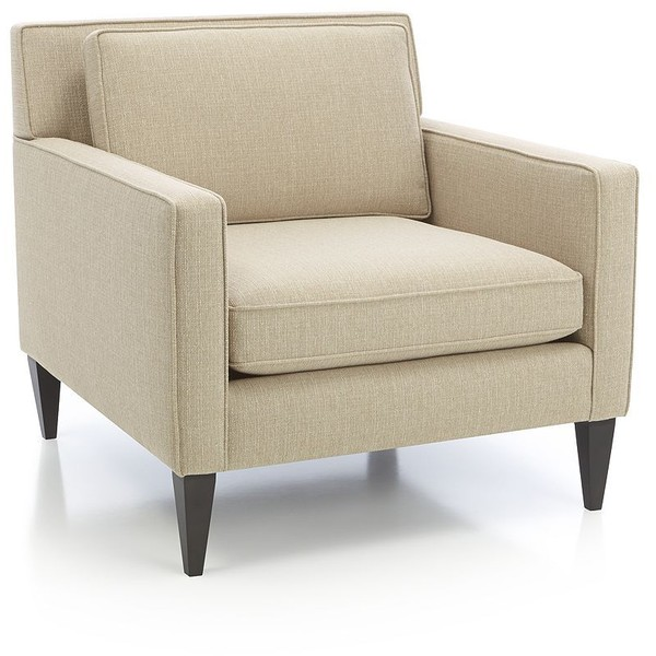 Neutral Living with Crate and Barrel Cream Upholstered Chair by Two Thirty Five Designs