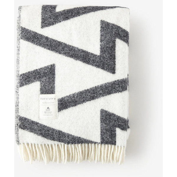 Neutral Living with Forestry Fringe Blanket by Two Thirty Five Designs
