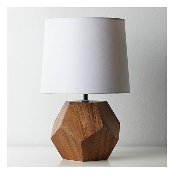 Neutral Living with Land of Nod Wooden Lamp by Two Thirty Five Designs