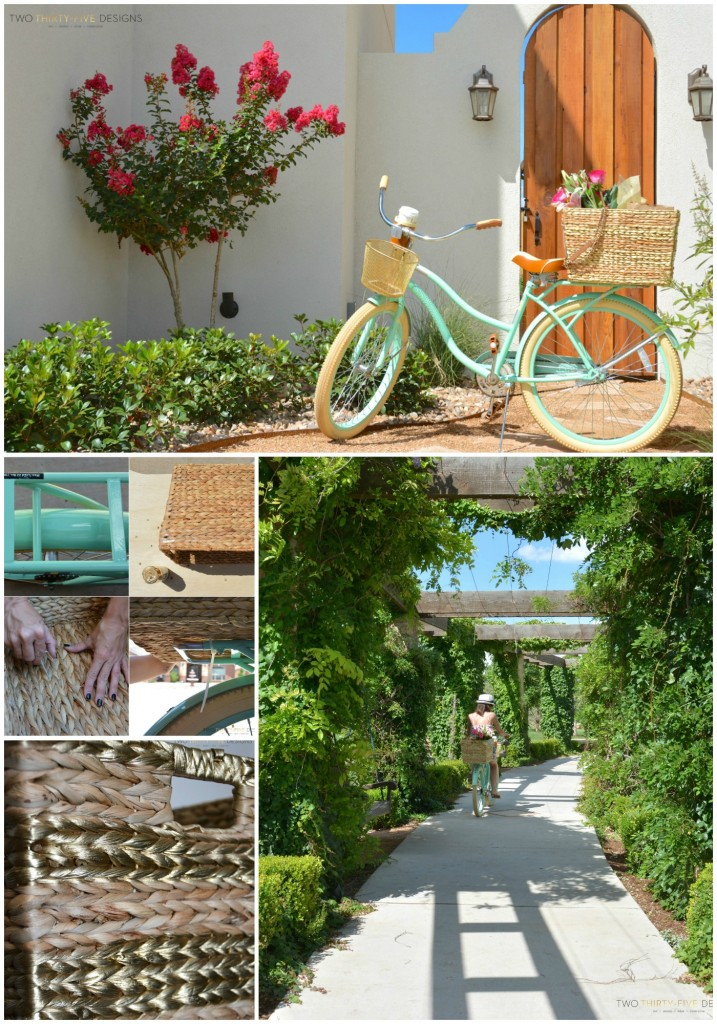 DIY Bicycle Basket by Two Thirty~Five Designs.