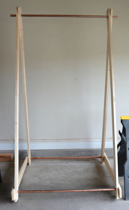 DIY-Clothing-Rack-setup by Two Thirty~Five Designs