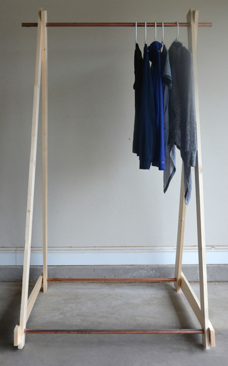 DIY-Clothing-Rack-wood-frame by Two Thirty~Five Designs