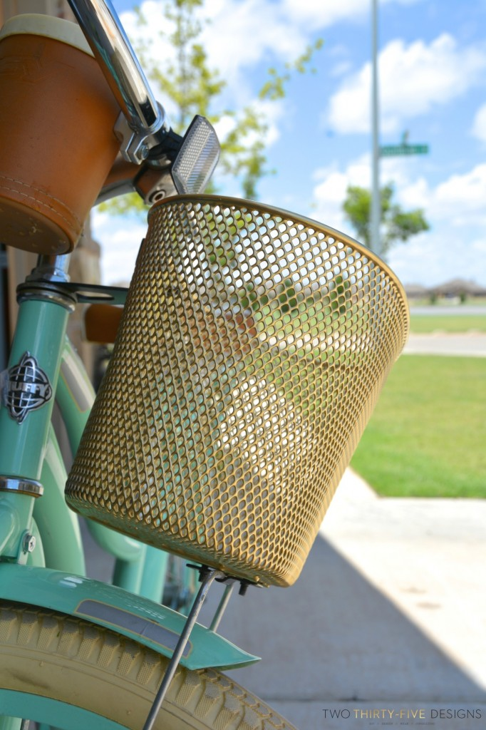 Metallic Bicycle Basket