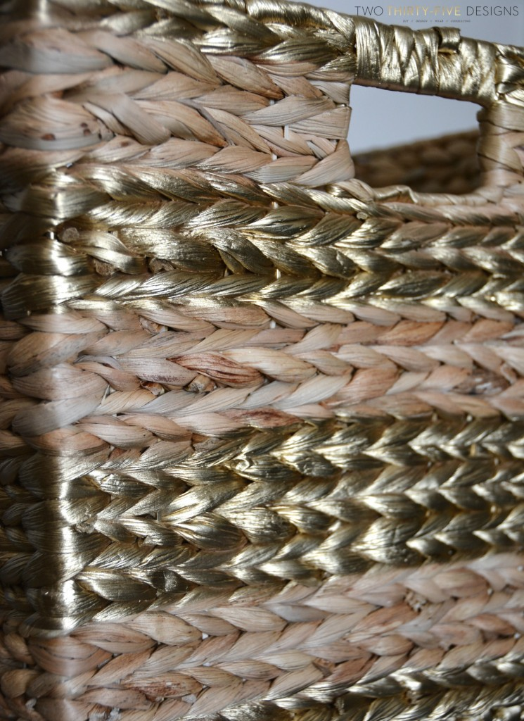 Metallic Seagrass Basket by Two Thirty~Five Designs