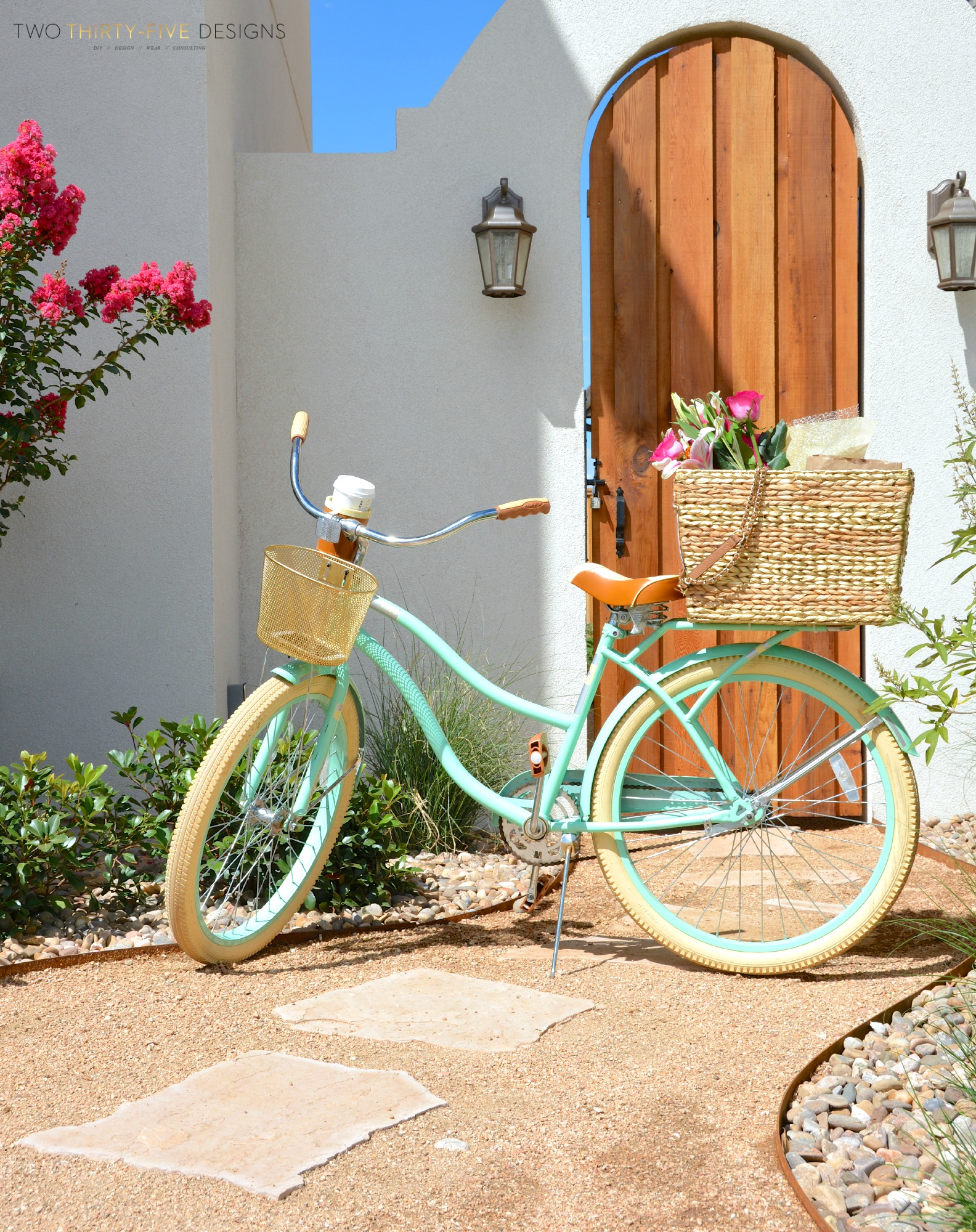 Diy Seagrass Bicycle Basket Two Thirty Five Designs