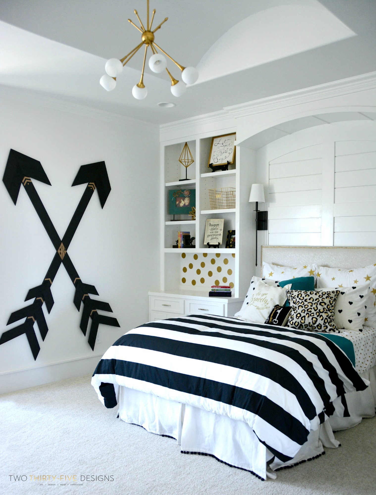 Pottery Barn Teen Girl Bedroom With Wooden Wall Arrows By Two Thirty~Five  Designs. I Am Absolutely In Love With This Space!