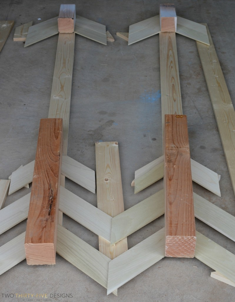 Tutorial for Wooden Wall Arrows by Two Thirty~Five Designs