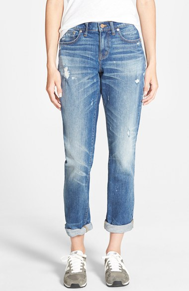 Madwell Slim Boyfriend Distressed Jean
