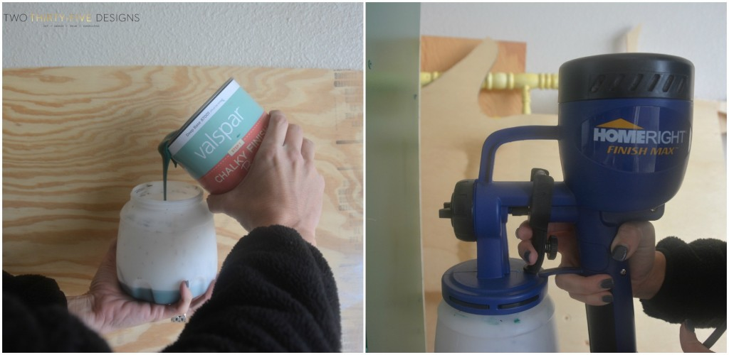 Chalk Paint in a Paint Sprayer