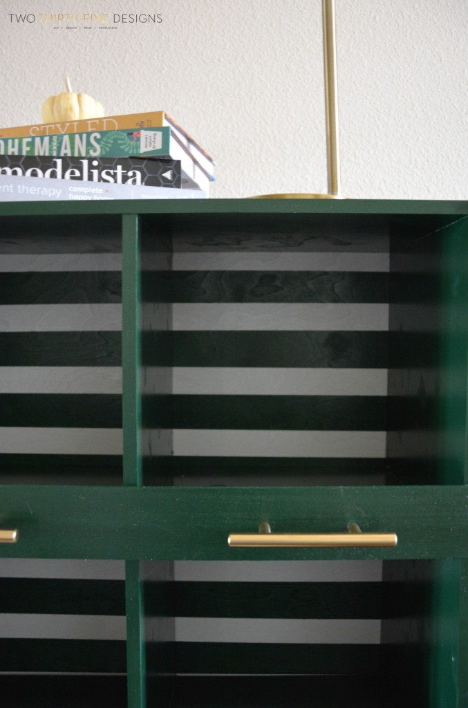 DIY Striped Console by Two Thirty~Five Designs