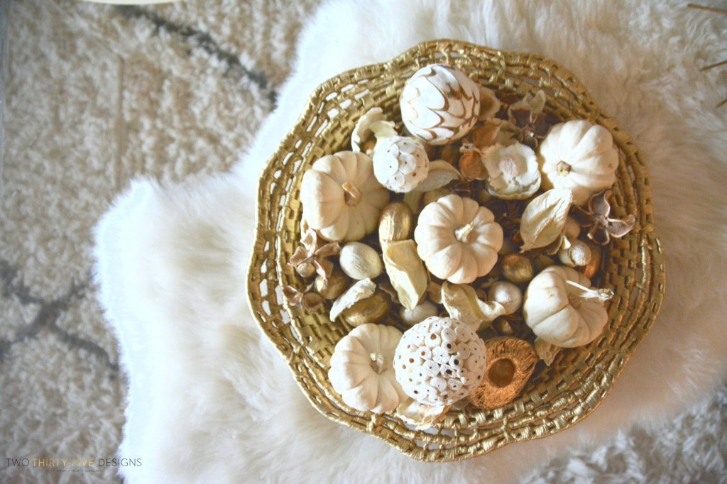 Fall Coffee Table Styling by Two Thirty~Five Designs